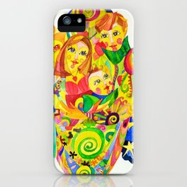 The Family, illustration made by Ines Zgonc iPhone Case