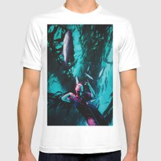 Jumped in the River White MEDIUM Mens Fitted Tee
