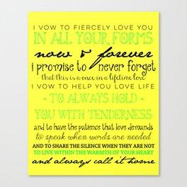 I Vow Canvas Print