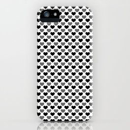 Hearts pattern iPhone Case