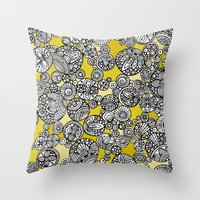 circles Throw Pillows featuring Circles by Valentina Harper