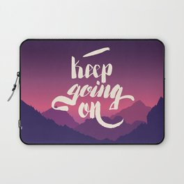 Keep going on. Hand lettering vector illustration Laptop Sleeve