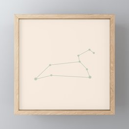 Leo Zodiac Constellation Sage Framed Mini Art Print