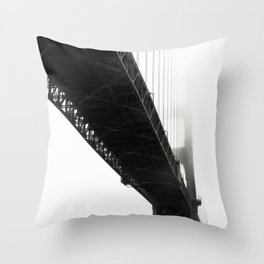 Black Bridge Throw Pillow