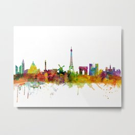 Paris France Skyline Metal Print