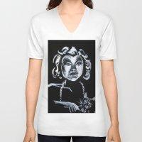 selena V-neck T-shirts featuring Selena Kyle by JezRebelle