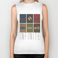infinite Biker Tanks featuring Infinite by Sara Eshak