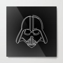 3d-art vader Metal Print