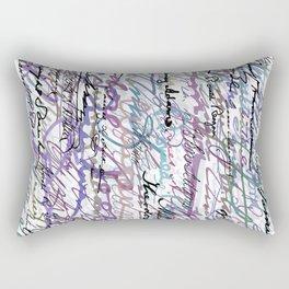 All The Presidents Signatures Blue Rose Rectangular Pillow