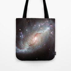 Barred spiral galaxy Tote Bag
