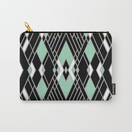 Art Deco Zoom Mint Carry-All Pouch