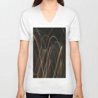 fireworks V-neck T-shirts featuring Fireworks by ShonaLLambert