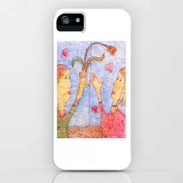Hearts and Flowes iPhone Case
