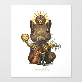 King of Squirrels Canvas Print