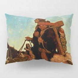 "N C Wyeth Western Painting ""Navajo Family"" Pillow Sham"