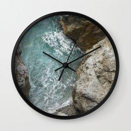Sea in Praiano Wall Clock