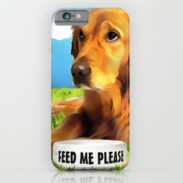 A Golden Retriever iPhone Case