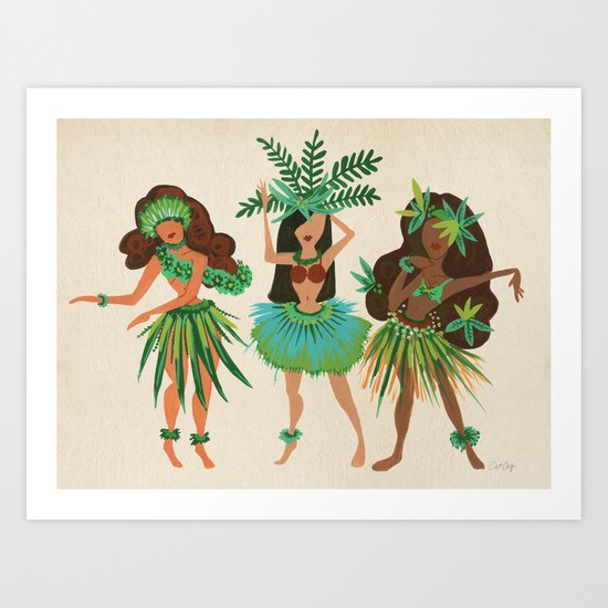 Luau Girls Art Print