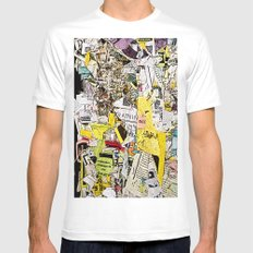Shredded  White MEDIUM Mens Fitted Tee