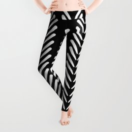 Mud Cloth Arrow Glam #2 #pattern #decor #art #society6 Leggings