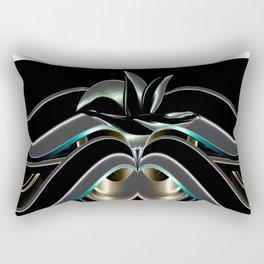 Abstrakt - Lilie schwarz grau Rectangular Pillow