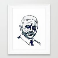 bond Framed Art Prints featuring Bond. by Thomas Wright Illustration