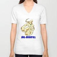 sassy V-neck T-shirts featuring sassy snake  by PyroDarknessAnny