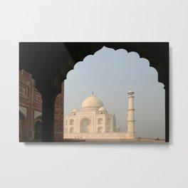 Famous mausoleum Taj Mahal in India Metal Print