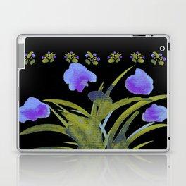 Atom Flowers #34 in purple and green Laptop & iPad Skin