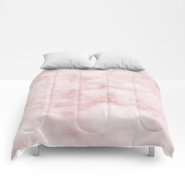 Sivec Rosa - cloudy pastel marble Comforters