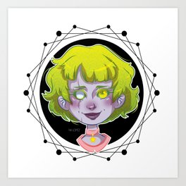 Lady Green Art Print