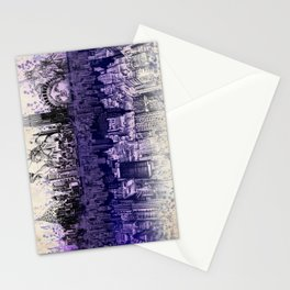 New York skyline drawing collage 2 Stationery Cards