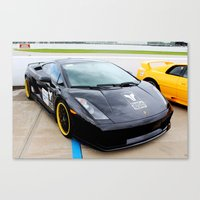 lamborghini Canvas Prints featuring Lamborghini Gallardo by KingstonFX