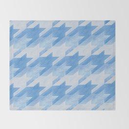 Blue Monochrome Houndstooths Throw Blanket