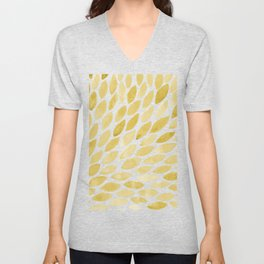 Watercolor brush strokes burst - yellow Unisex V-Neck