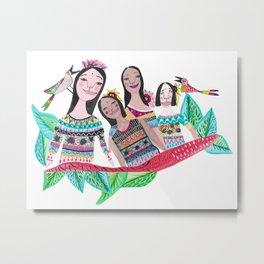 The southamerican girls Metal Print