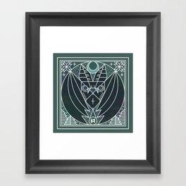 Bat from Transylvania Framed Art Print