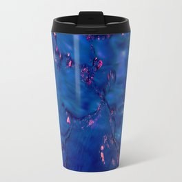 Dark Blue Waters with Hints of Pink Travel Mug