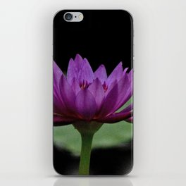 Purple Sacred Lotus iPhone Skin