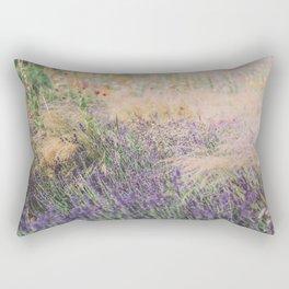 Purple Field of Flowers Rectangular Pillow