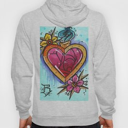 the crystal blossom gold heart Hoody
