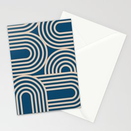 Abstraction_WAVE_GRAPHIC_VISUAL_ART_Minimalism_001 Stationery Cards