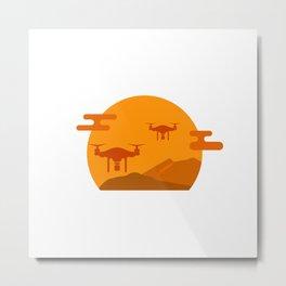 Drone Wars Metal Print
