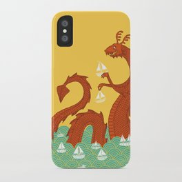 It's a Good Day to be a Sea Monster iPhone Case