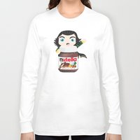 nutella Long Sleeve T-shirts featuring Loki Loves Nutella? by Lily