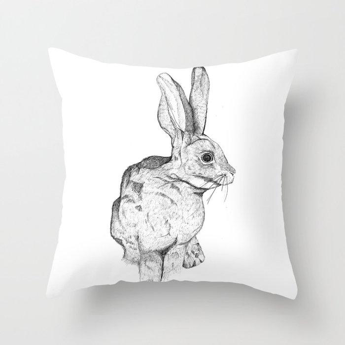 Bushman Hare Throw Pillow