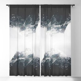 reflect / mountain reflection in black&white / adventure artprint Blackout Curtain
