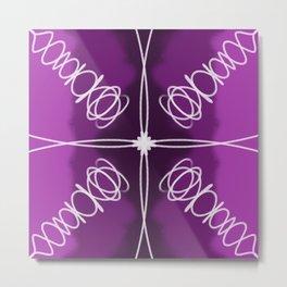 Purple Fade Lines Metal Print