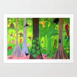 Costa Rica Rainforest Art Print