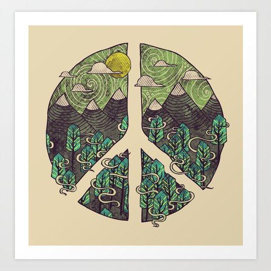 Peaceful Landscape Art Print